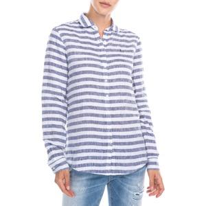 Modrá dámská košile dlouhý rukáv Tommy Hilfiger c23bd8d1e6f